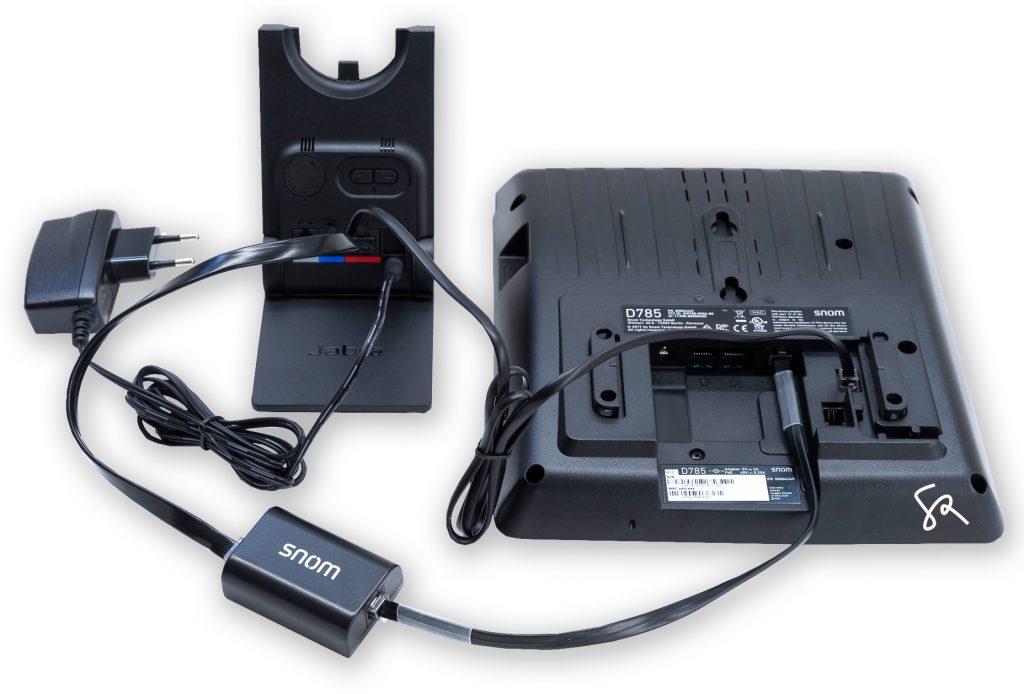 Headset anschliessen SNOM D785 Jabra 920 PRO EHS