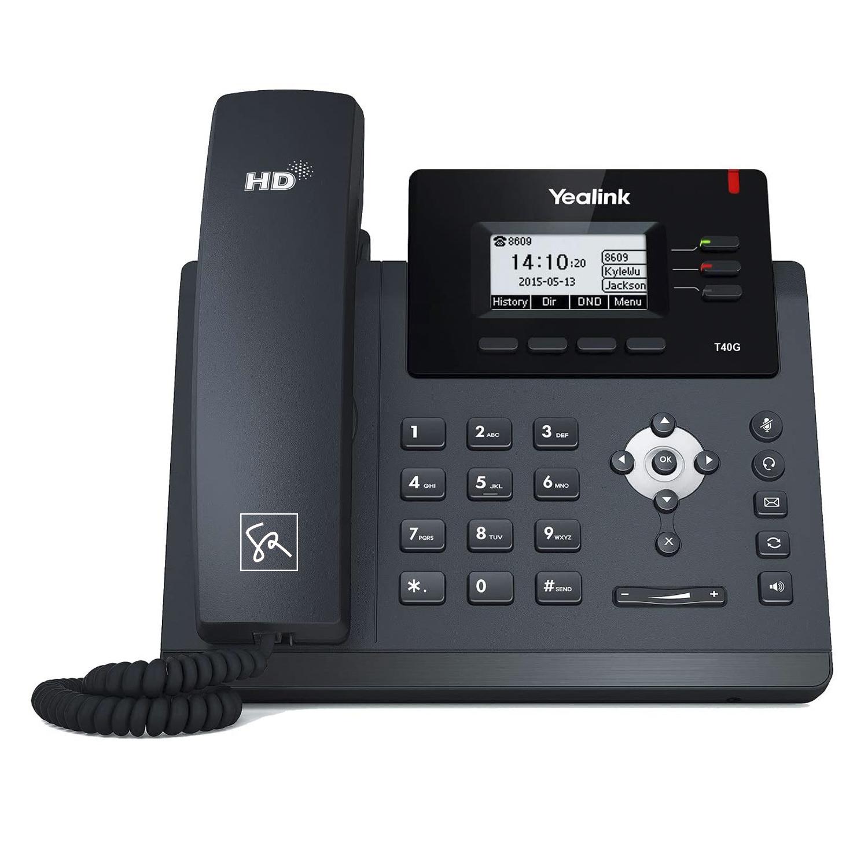 Tisch-Telefon Yealink T40G Front stephanrasch.de yealink.com