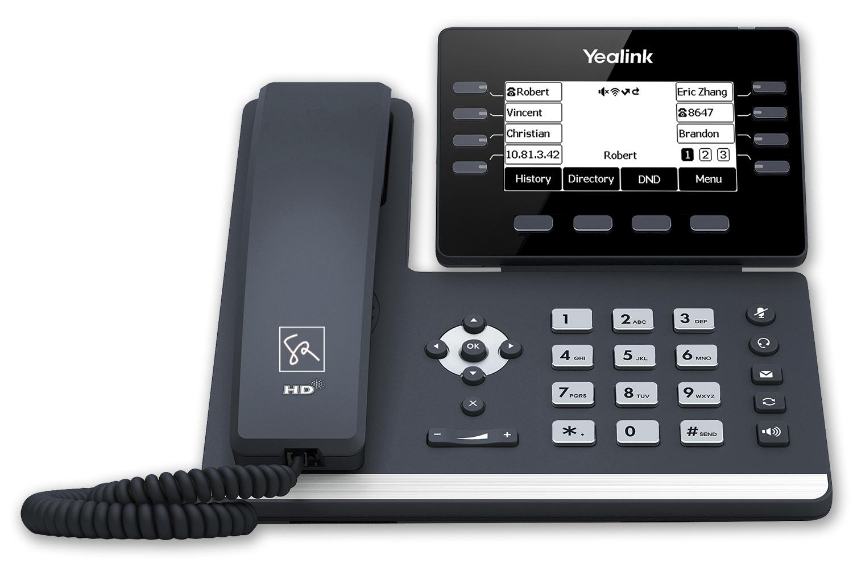 Tisch-Telefon Yealink T53W Front stephanrasch.de yealink.com