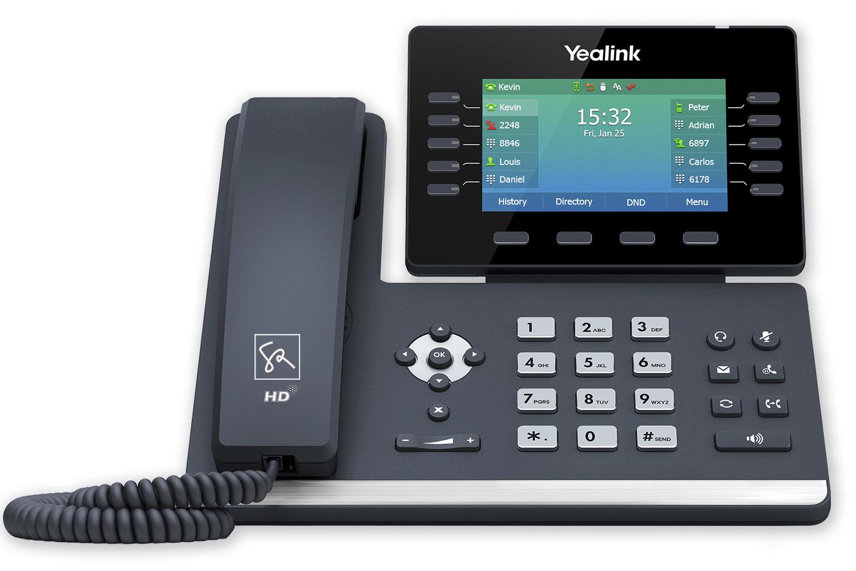 Tisch-Telefon Yealink T54W Front stephanrasch.de yealink.com