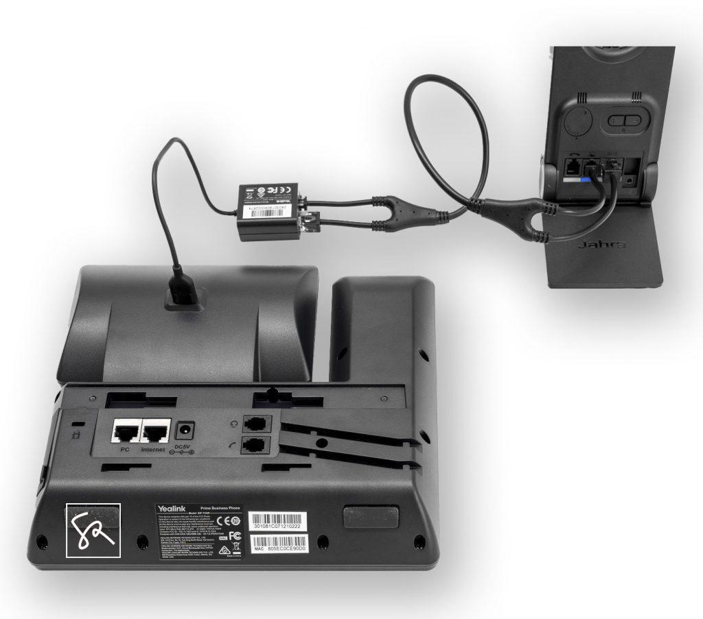 Tisch-Telefon Yealink T54W Headset Anschliessen EHS Adapter EHS40 stephanrasch.de yealink.com