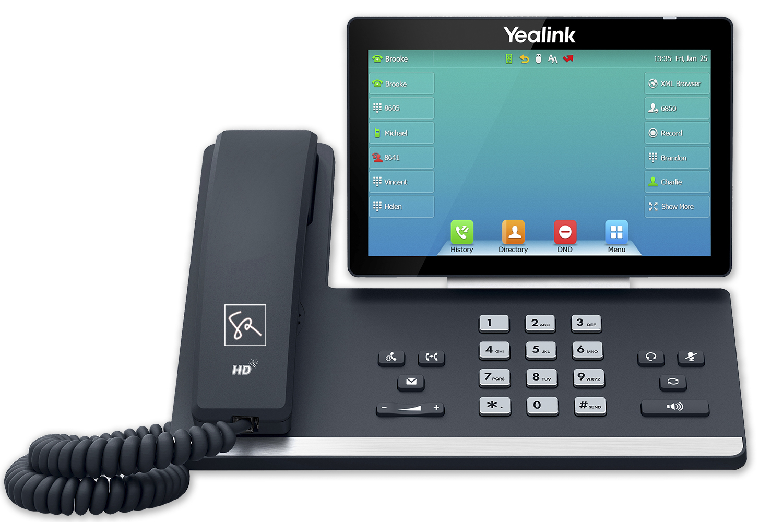 Tisch-Telefon Yealink T57W Front stephanrasch.de yealink.com
