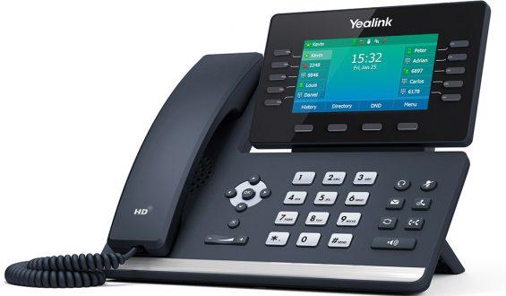 Tisch_Telefon_Yealink_T54W_Left